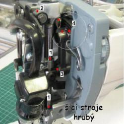 Mazání čelní části šicího stroje